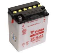 YUASA MC batteri YB14L-A2 LxBxH: 134x89x166mm