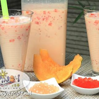 Milky Melon Sago Cooler.