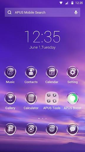 Purple Sky theme for APUS