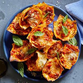 No Cheese Lasagna Cups Recipes.
