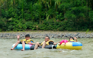 Photo: Members of our group tubing