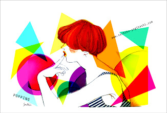 Photo: POPPING /2012 colorpencil, watercolor, paper, +PC