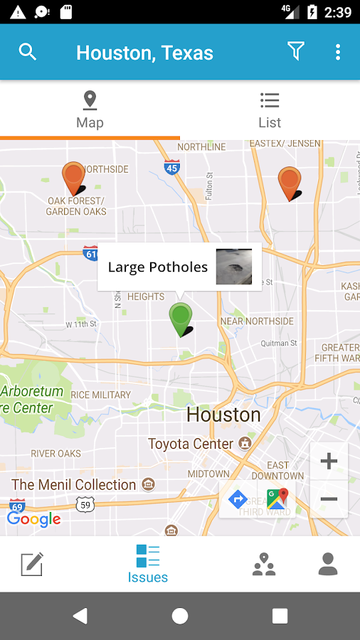 Houston 311- screenshot
