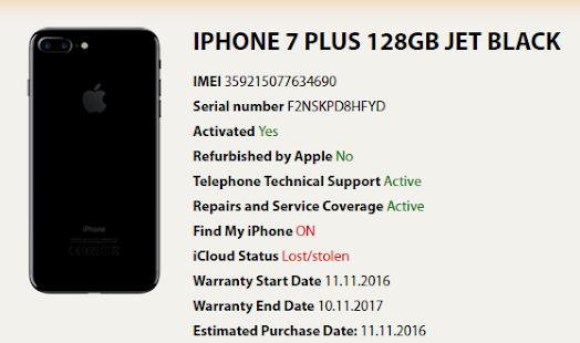iphone 7 hitta imei
