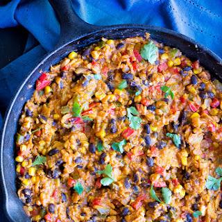 Easy Stove Top Enchiladas with Cauliflower Rice.