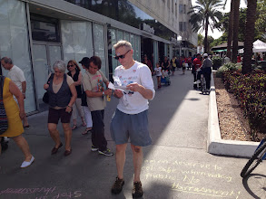 Photo: Handing out materials in South Beach, FL. 4.7.13