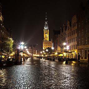 Gdansk old town by Rune Nilssen - City,  Street & Park  Historic Districts ( k3, polen, gdansk, oktober, pomorskie, pentax, morning, early, targ, dlugi,  )
