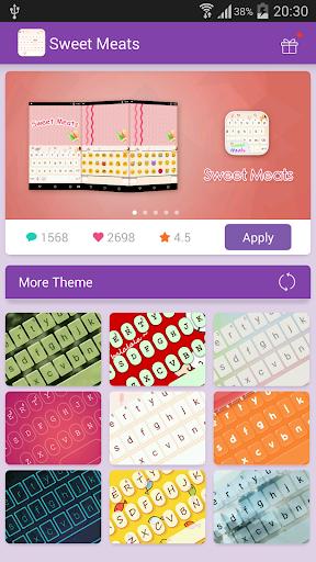 Emoji Keyboard-Sweet Meats