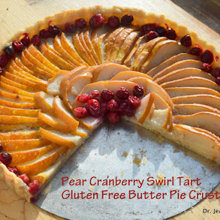 Pear Cranberry Tart in Gluten Free Butter Pie Crust