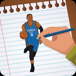 Draw NBA  Basketball