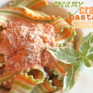 Creamy Crab Pasta Sauce.