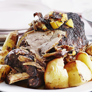 Slow-Roasted Lamb with Lemon and Mint.