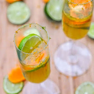 Clementine and Lime Prosecco Mimosas.