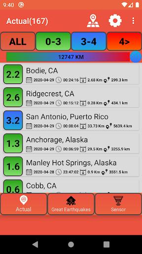 Last Earthquakes(Notification) screenshot 1