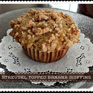 Streusel Topped Banana Muffins Recipe