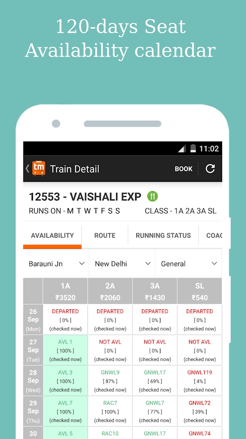 Railway PNR Status Prediction & Train Status- screenshot