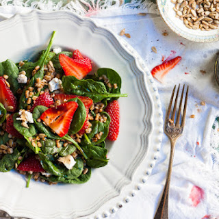 Wheat Berry & Strawberry Spinach Salad ... Countdown To College