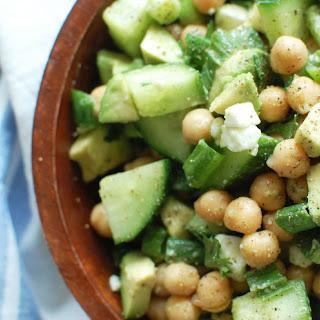 Chickpea, Avocado + Feta Salad