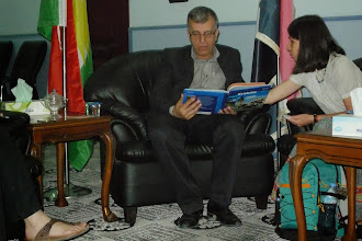 Photo: with dr Kawa Mahmud, the Minister of Culture and Youth in Kurdistan Region Government, Hawler