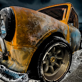 Mini by Sarah Hauck - Transportation Automobiles ( broken, car, dark, rusty, mini )