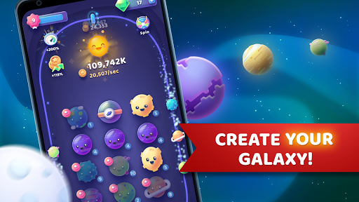 Code Triche Moonies - Merge Planets And Master The Idle Galaxy APK MOD screenshots 1