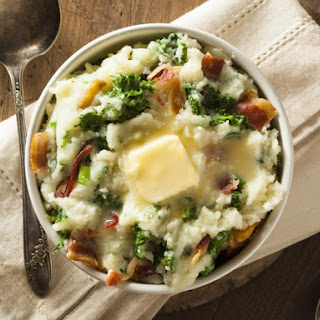 Colcannon with Kale and Guanciale.