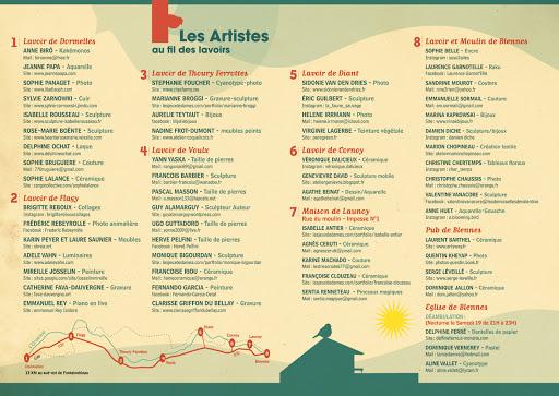 au fil des lavoirs expo 45 artistes et créateurs aquarelles Jeanne PAPA