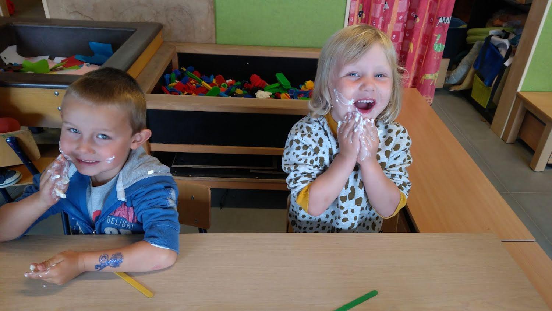 Vaderdag bij de kleuters van 3-4 jaar....