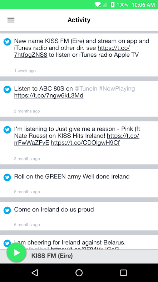 KISS FM (Eire)- screenshot