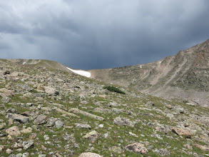 Photo: The sky that ultimately  made us decide to abort our climb. Photo by Dave Socky