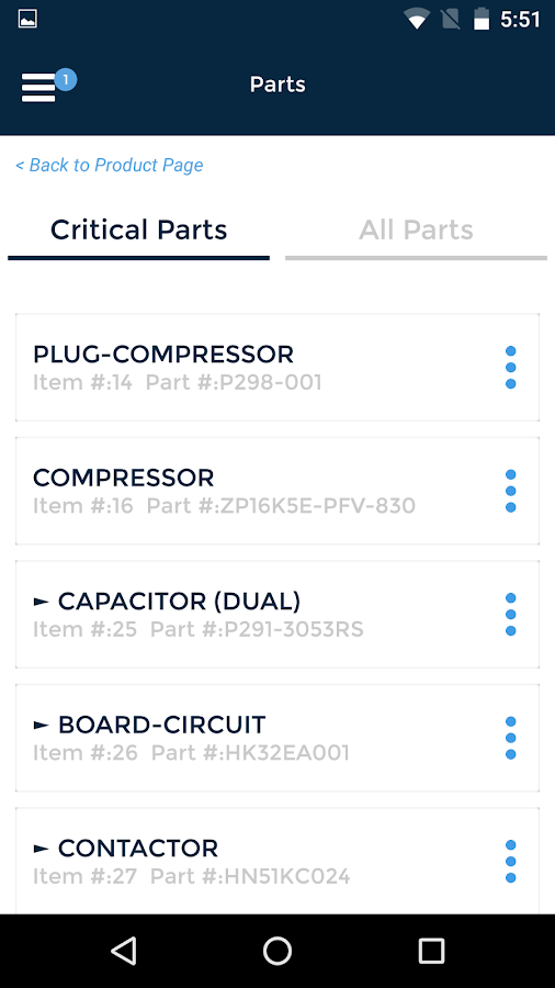 Carrier® Service Technician- screenshot