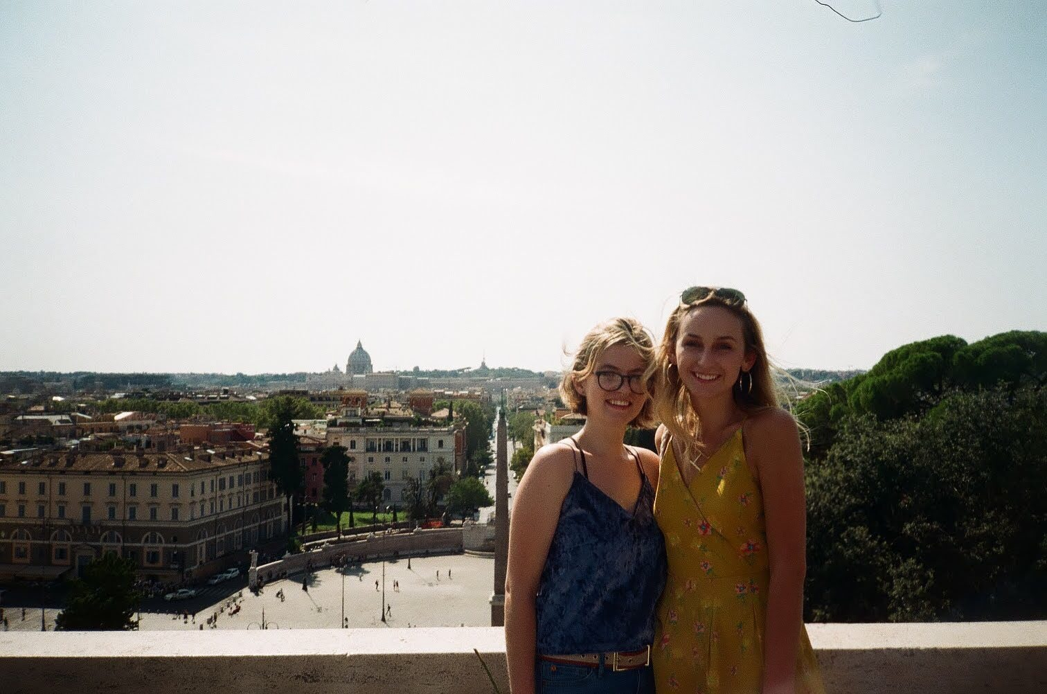 Hannah and friend overlooking Rome