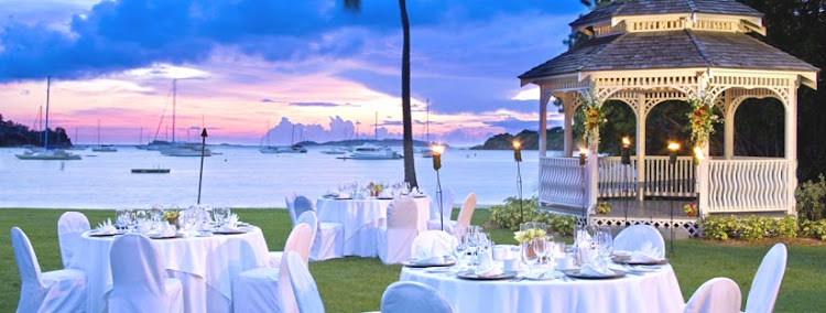 A wedding gazebo at Westin St. John Resort in the U.S. Virgin Islands.