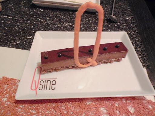 A signature chocolate dessert at Qsine.