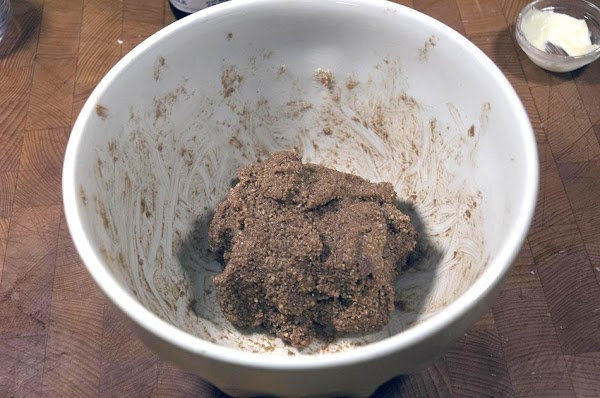 Cut into the dry ingredients until combined.