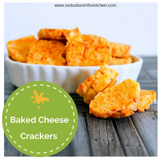 Baked Cheese Crackers.
