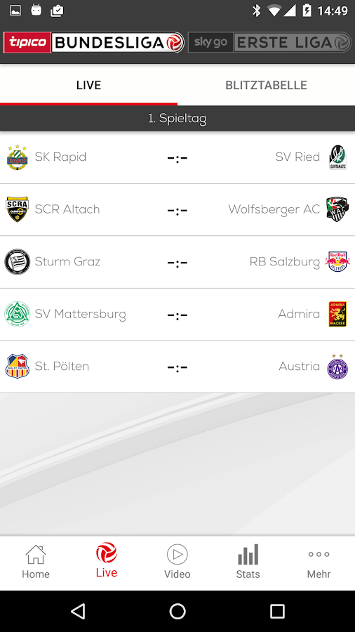 Fußball-Bundesliga- screenshot