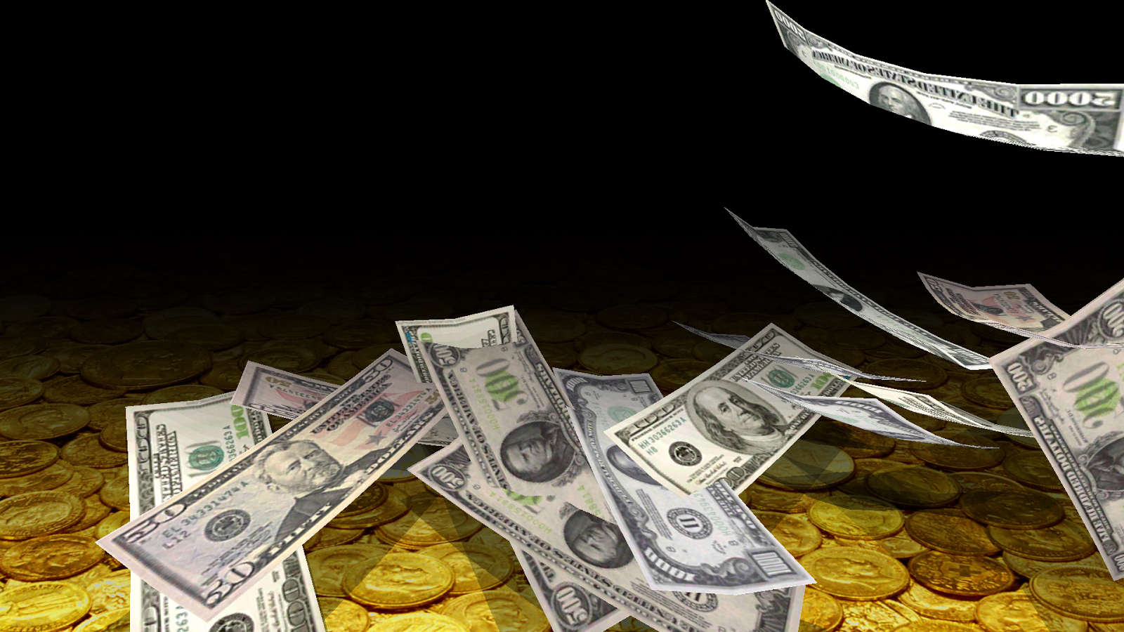 Falling Money 3D Live Wallpaper- screenshot