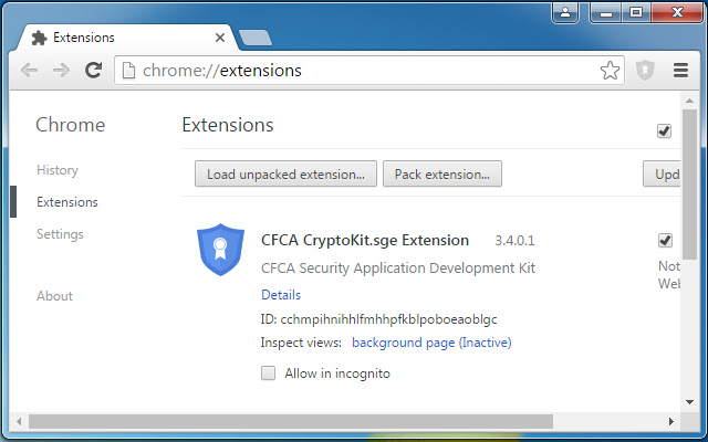 CFCA CryptoKit.sge Extension