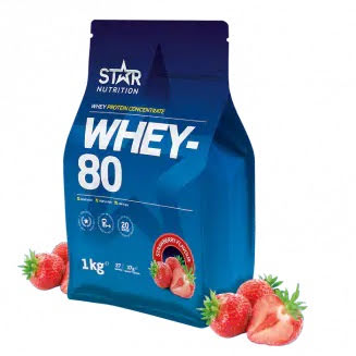 Star Nutrition Whey 80 1kg - Strawberry