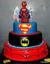 Photo: 3 Tired Superhero themed cake