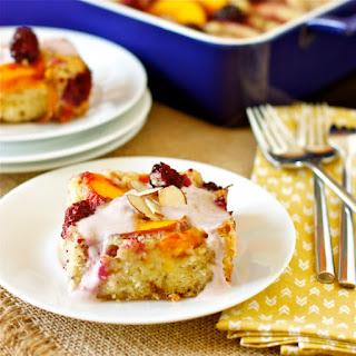 Nectarine, Peach, and Blackberry Cake.