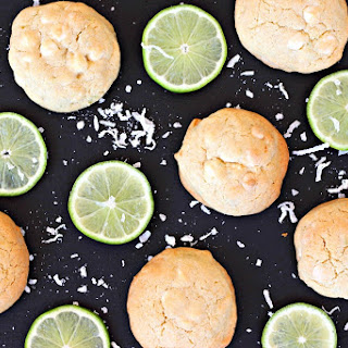 White Chocolate Key Lime Coconut Cookies