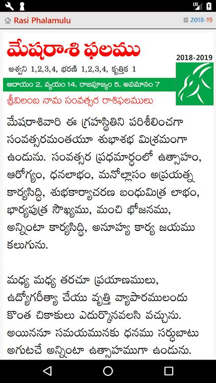 Telugu Rasi Phalamulu 2018-2019 – (Android Apps) — AppAgg