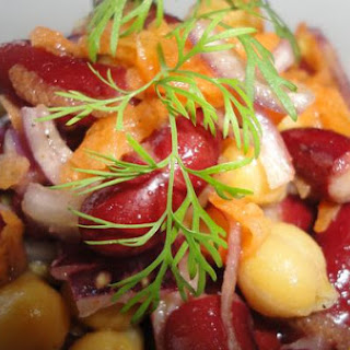 Bean Salad With Lime Dressing.