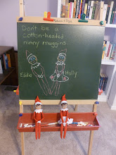 Photo: December 20 - drawing their portraits on the chalk board