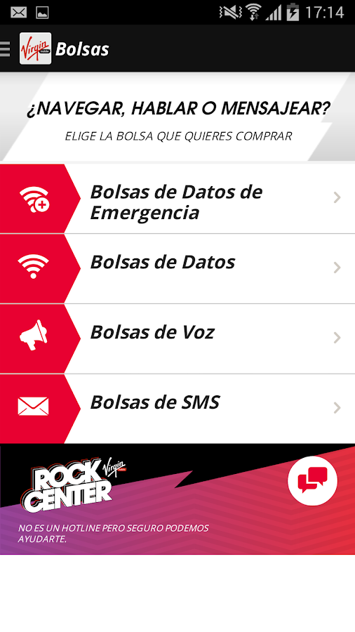Virgin Mobile Chile- screenshot