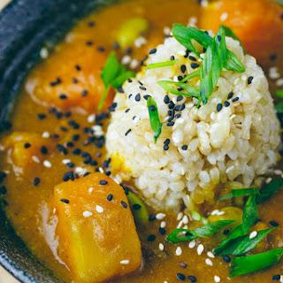 Japanese Kabocha Curry (Vegan, GF Option).