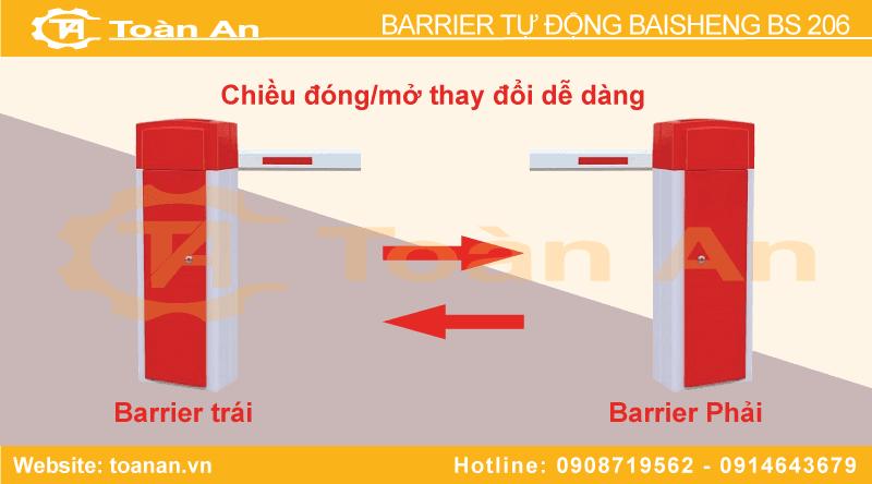 Barrier tự động Bs 206 linh hoạt thay đổi chiều đóng/mở
