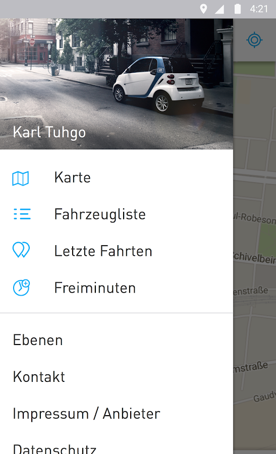 car2go- screenshot